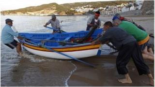 Fishermen in Portugal