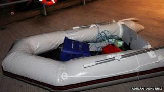 Recovered dinghy