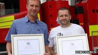 Stephen Eggleton (left) with Phillip Pearce