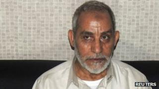 Muslim Brotherhood leader Mohammed Badie after his arrest