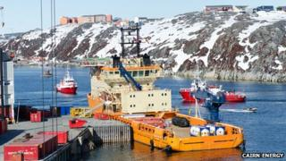Toisa Vigilant in Nuuk, Greenland