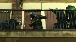 Dawn raid in Newham