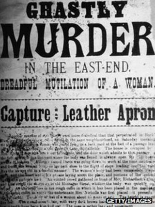 The front page of a newspaper reports on a 'Ghastly Murder in the East-End. Dreadful Mutilation of a Woman,' as part of its coverage of the murders of Jack the Ripper, London, England, September 1888