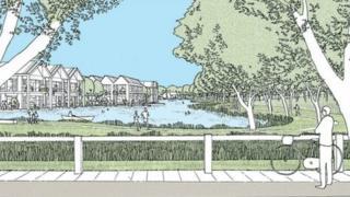 Artist's impression of Lincolnshire Lakes scheme