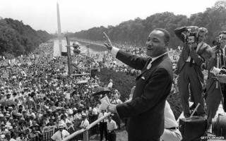Martin Luther King addresses the march