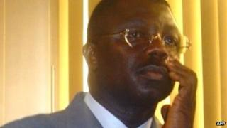A photo taken on 17 August 2005 shows Congolese General Norbert Dabira