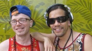 DJs MC Geezer (left) and Troi 'Chinaman' Lee