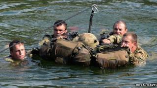 Royal Marines Commandos training in Albania, August 2013