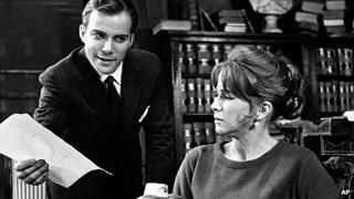 William Shatner and Julie Harris in 1962