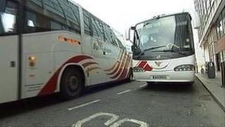 Bus Eireann coaches