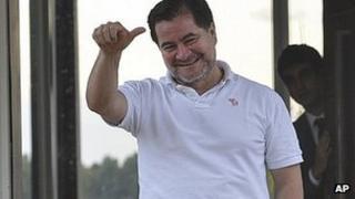 Bolivian Senator Roger Pinto in Brasilia. 26 Aug 2013