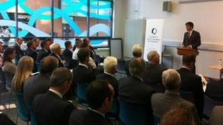 Michael Moore addresses Dundee and Angus chamber of Commerce