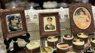 Chocolates decorated with portraits of Gen Abdel Fattah al-Sisi