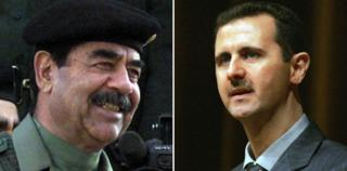 Saddam Hussein and Bashar Assad