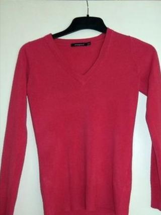 Pink v-neck jumper
