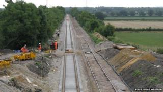 The track at Oaksey looking south