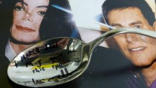 Michael Jackson's bent spoon
