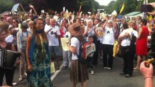 Anti-fracking protest at Balcombe