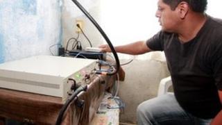 equipment powering the network