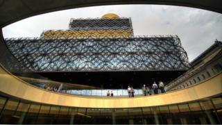 View of Library of Birmingham from the amphitheatre