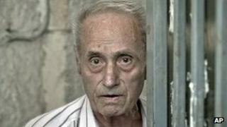 Alexander Visinescu outside his home in Bucharest, 30 Jul 13