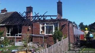 Bungalow fire in Burwell, Cambridgeshire