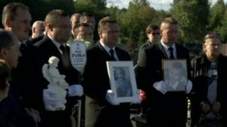Mourners gather for Daniel Pelka's funeral