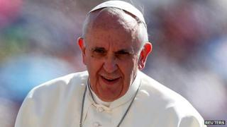 Pope Francis at the Vatican on 4 September 2013