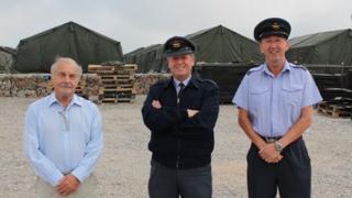 John Beale, Wing Commander Philip Lamb and Flt Lt Jeff Spencer