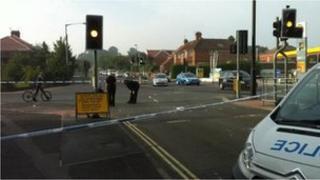 Melrosegate/Lawrence Street junction