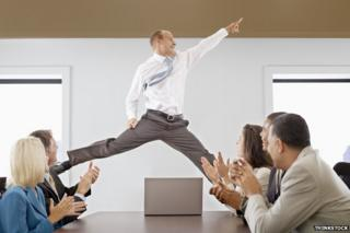 Man dancing in the office