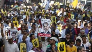 Muslim Brotherhood and Morsi supporters protest in Cairo (6 September 2013)