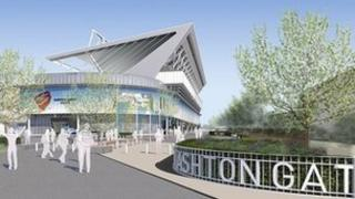 Artist's impression of a redeveloped Ashton Gate