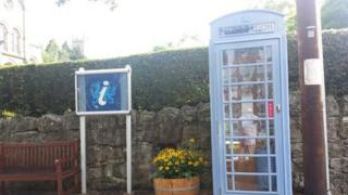 Blue telephone box