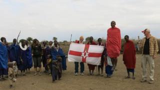 Jonny Blair with Masai