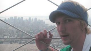 Jonny Blair overlooking Manhattan