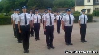 Police cadets at West Mercia Police