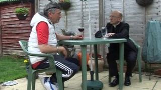 Brian Bond with Dr Martin Warner, Bishop of Chichester