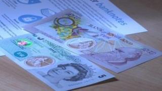 Specimen polymer banknotes