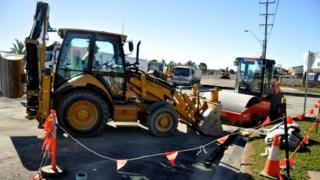Roadworks in Mackay