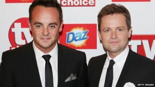 Ant and Dec at the TV Choice awards
