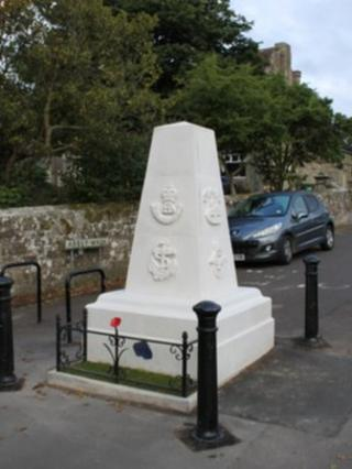 The Monument in Abbey Walk, outside the ruins