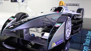A Renault Spark SRT-01E FIA Formula E race car