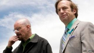 Bryan Cranston and Bob Odenkirk in Breaking Bad