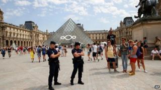 File photo of Louvre Museum in Paris