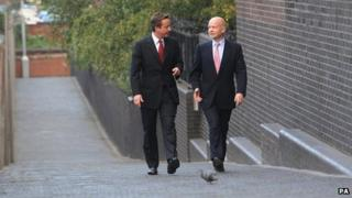 David Cameron and William Hague