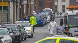 The scene in Hastings Street, Luton