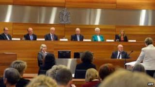 File photo: the first day of the Royal Commission into the Sexual Abuse of Children, at the County Court in Melbourne, 3 April 2013