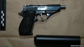 Handgun and silencer