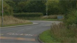 Scene of suspected hit and run